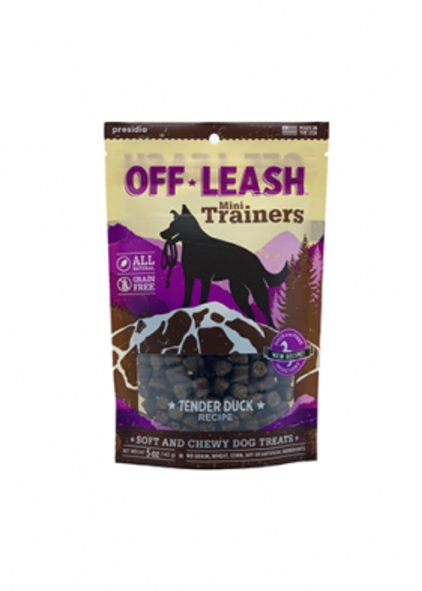 Off-Leash™ Presidio Off-Leash Mini Trainers Tender Duck Recipe 5oz