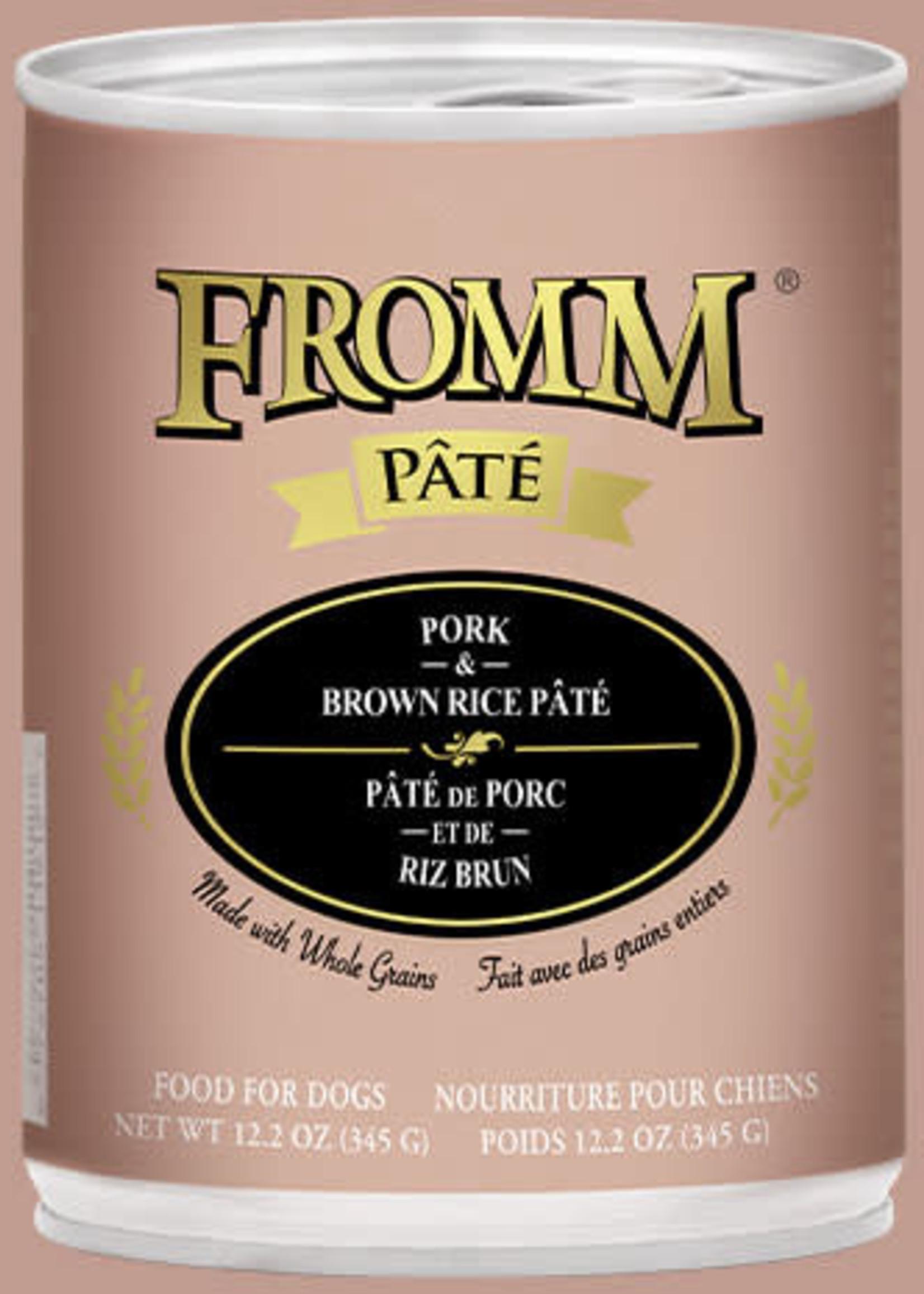 Fromm Fromm Pork & Brown Rice Pâté 12oz