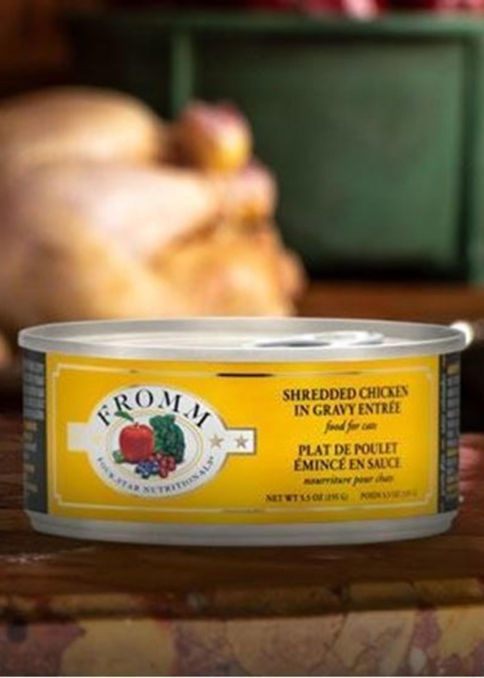 Fromm® Fromm Four-Star Shredded Chicken in Gravy Entrée 5.5oz