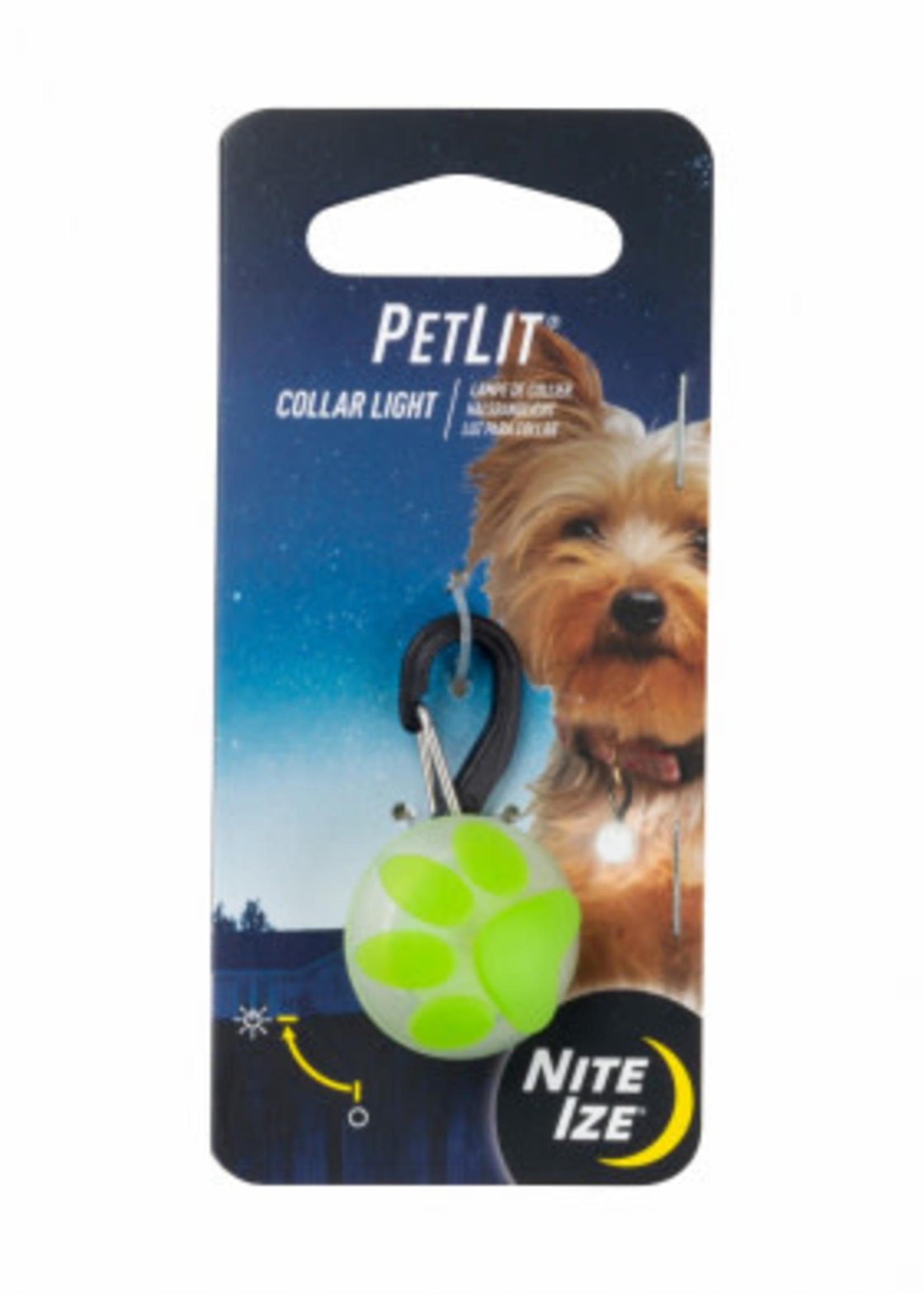 Nite Ize PetLit® Collar Light Lime Paw