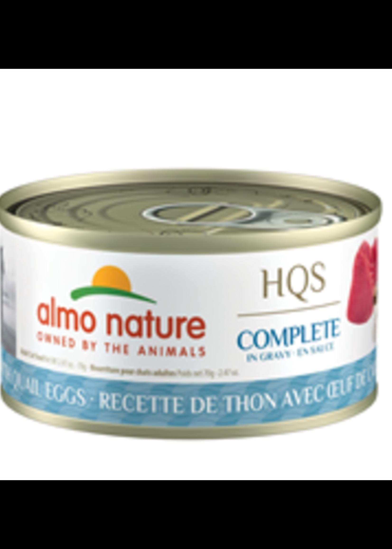 Almo Nature© Almo Nature HQS Complete Tuna Recipe with Quail Eggs in Gravy 70g