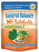 Natural Balance® NB CAT POUCH PLATEFULLS Indoor CHICKEN&CHICKEN LIVER 3oz