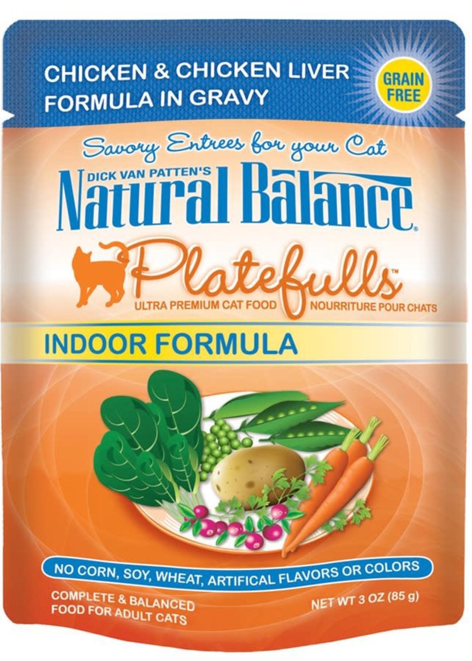 Natural Balance® Natural Balance® Platefulls® Indoor Chicken & Chicken Liver Formula in Gravy  3oz