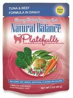 Natural Balance® NB CAT POUCH PLATEFULLS TUNA&BEEF 3oz