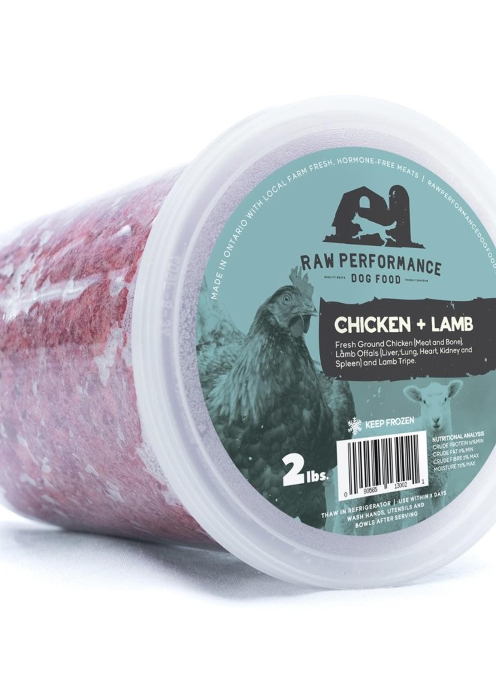 Raw Performance Raw Performance Chicken & Lamb Blend 2lbs