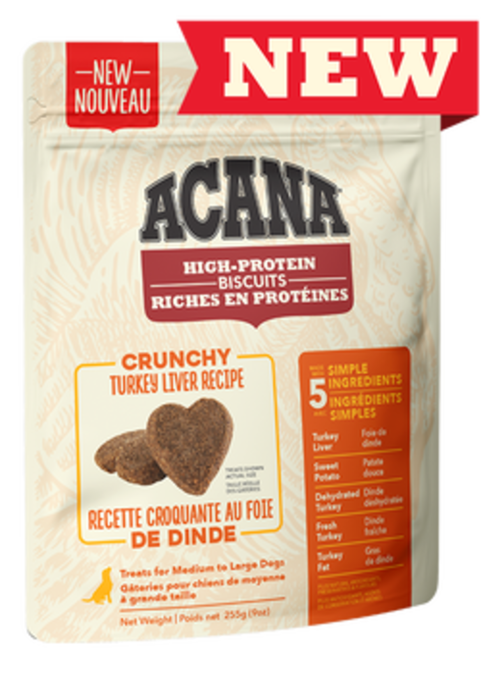 Acana® Acana High-Protein Biscuits, Crunchy Turkey Liver Recipe 9oz
