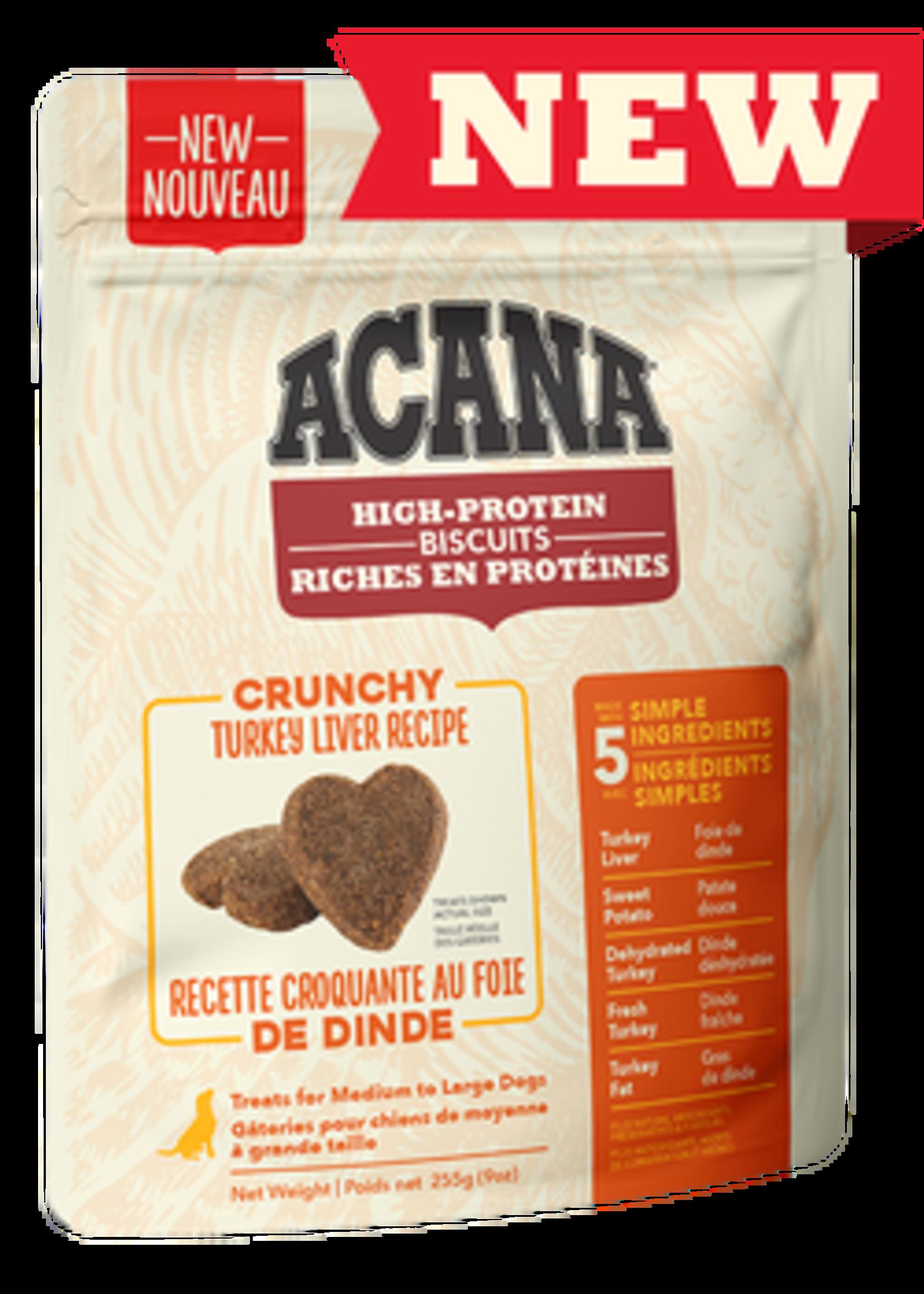 Acana® Acana High-Protein Biscuits, Crunchy Turkey Liver Recipe 9oz Large