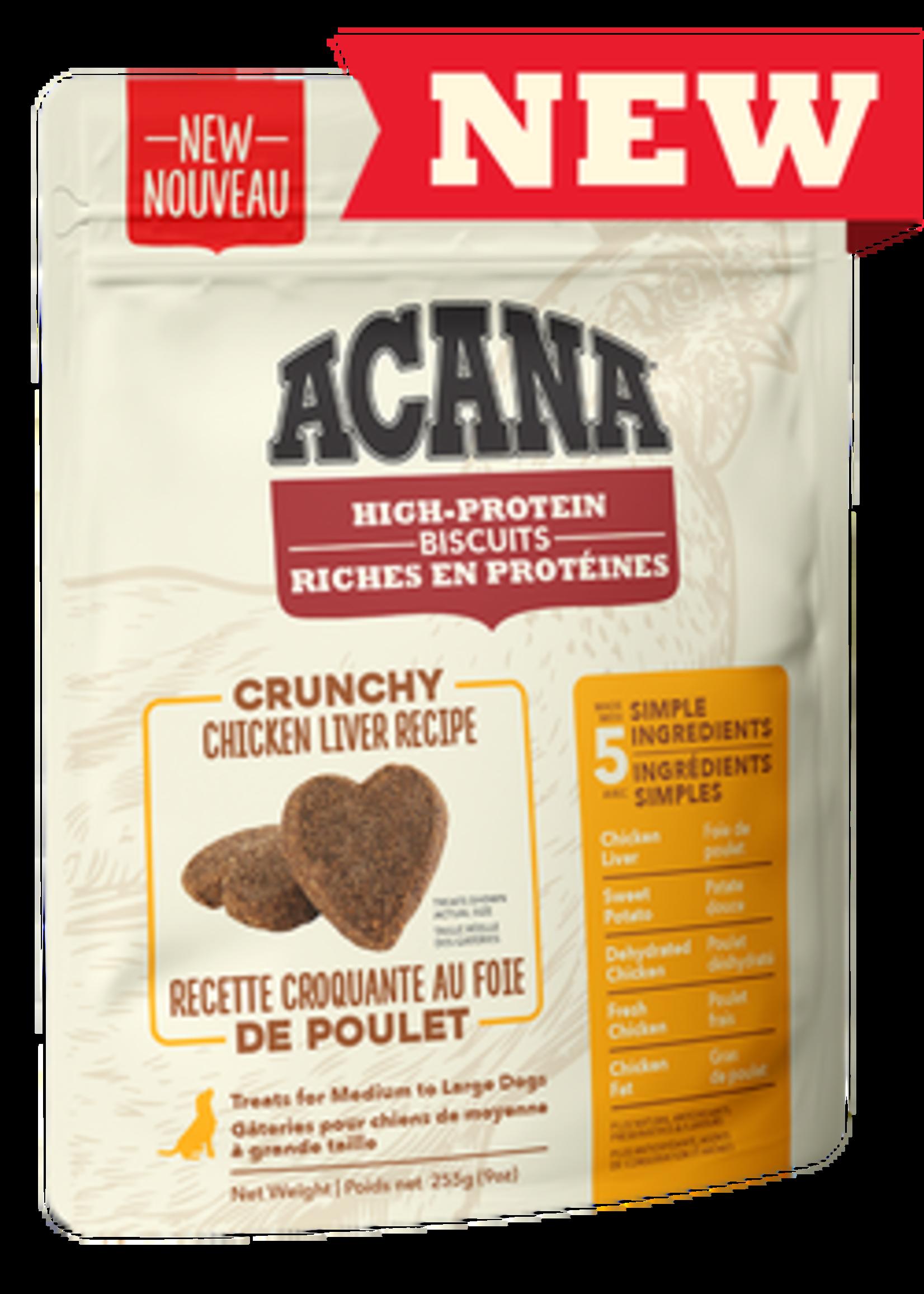 Acana® Acana High-Protein Biscuits, Crunchy Chicken Liver Recipe 9oz Small