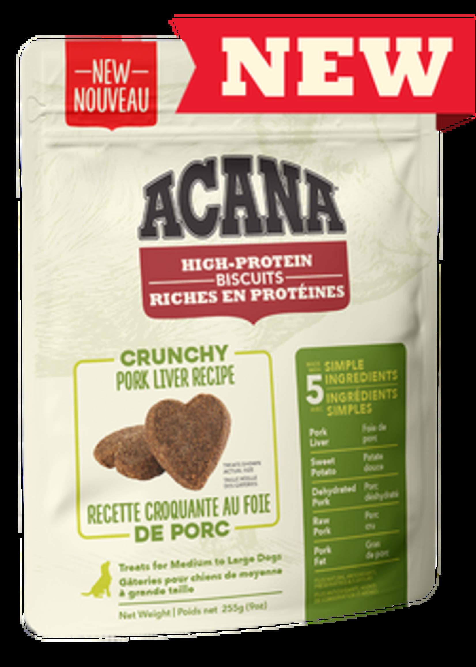 Acana® Acana High-Protein Biscuits, Crunchy Pork Liver Recipe 9oz Large