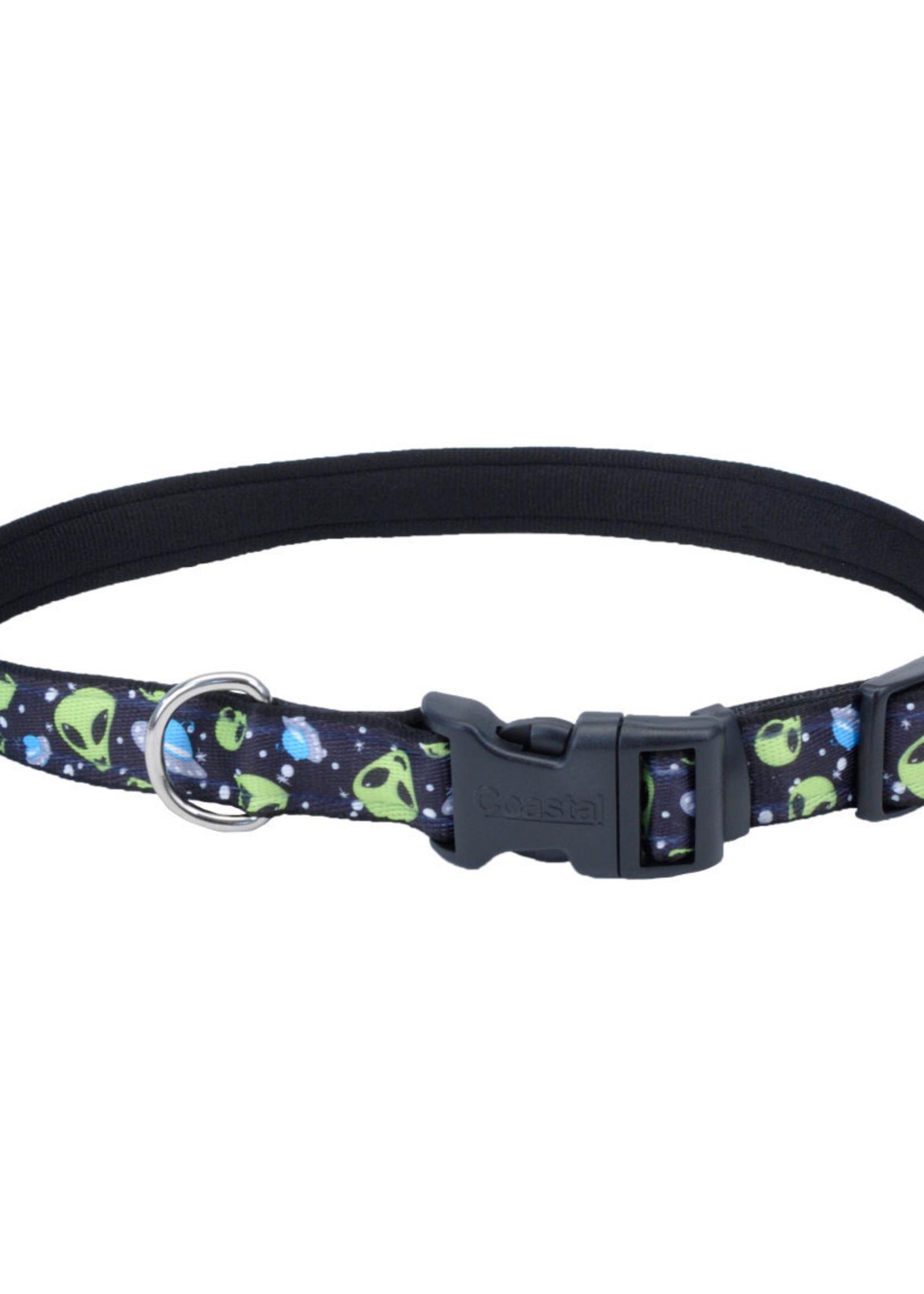 "Coastal® Pet Attire Aliens Collar 5/8"" x10-14"""