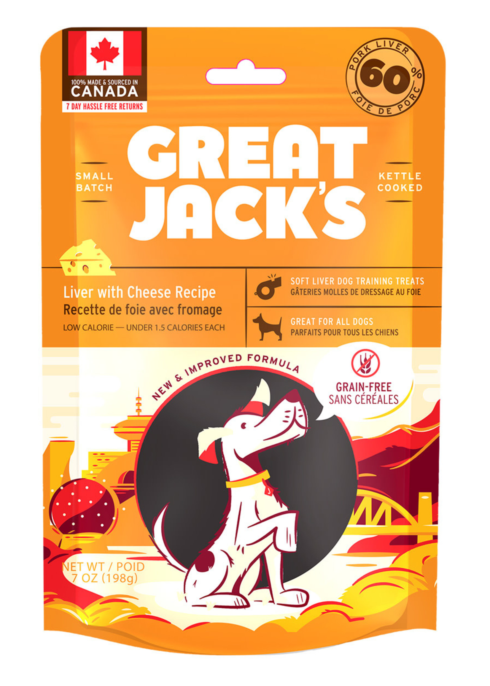 Canadian Jerky Co. Ltd GREAT JACK'S LIVER/CHEESE 7oz