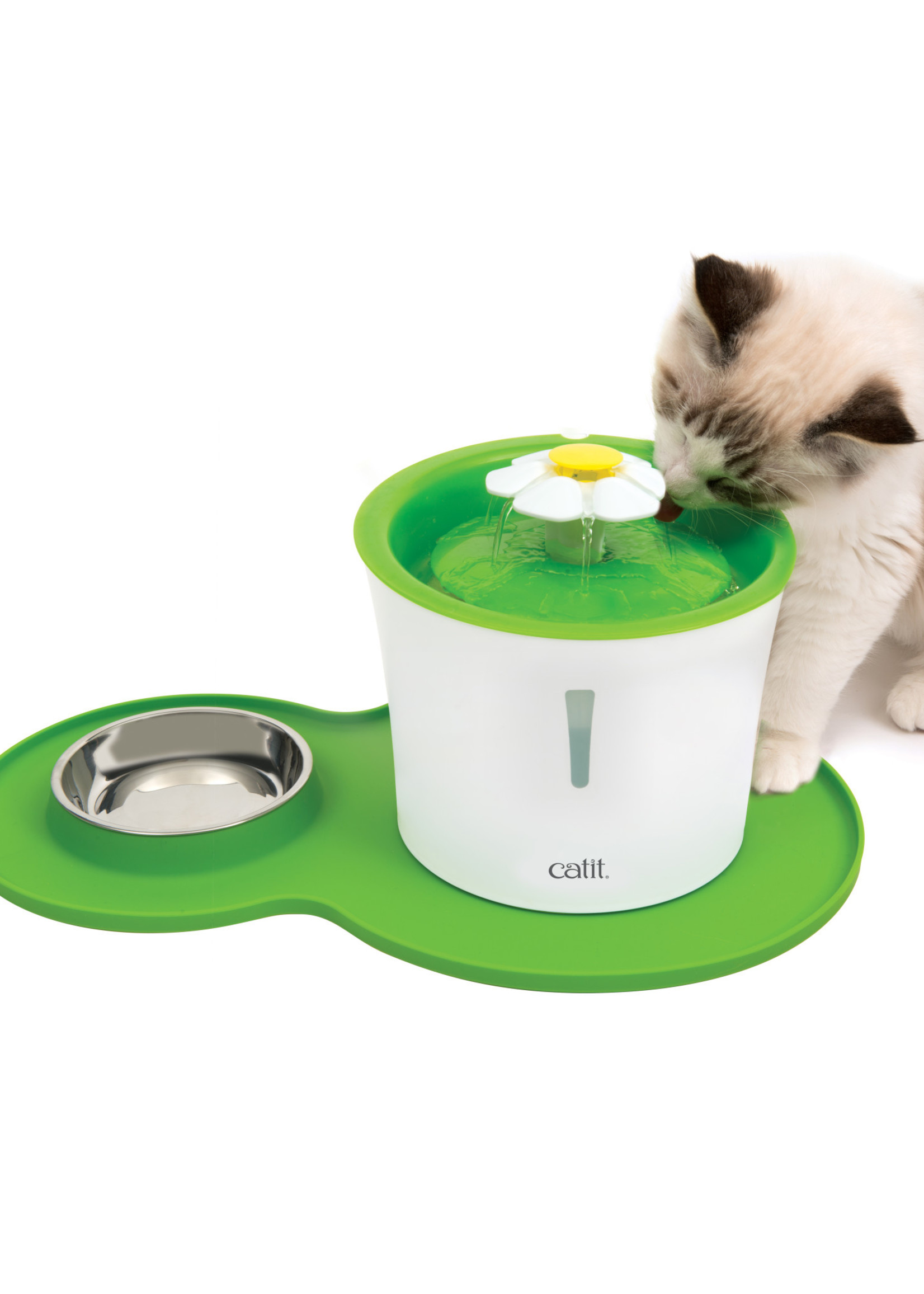 Catit® Catit Flower Fountain and Peanut Placemat Combo 3L