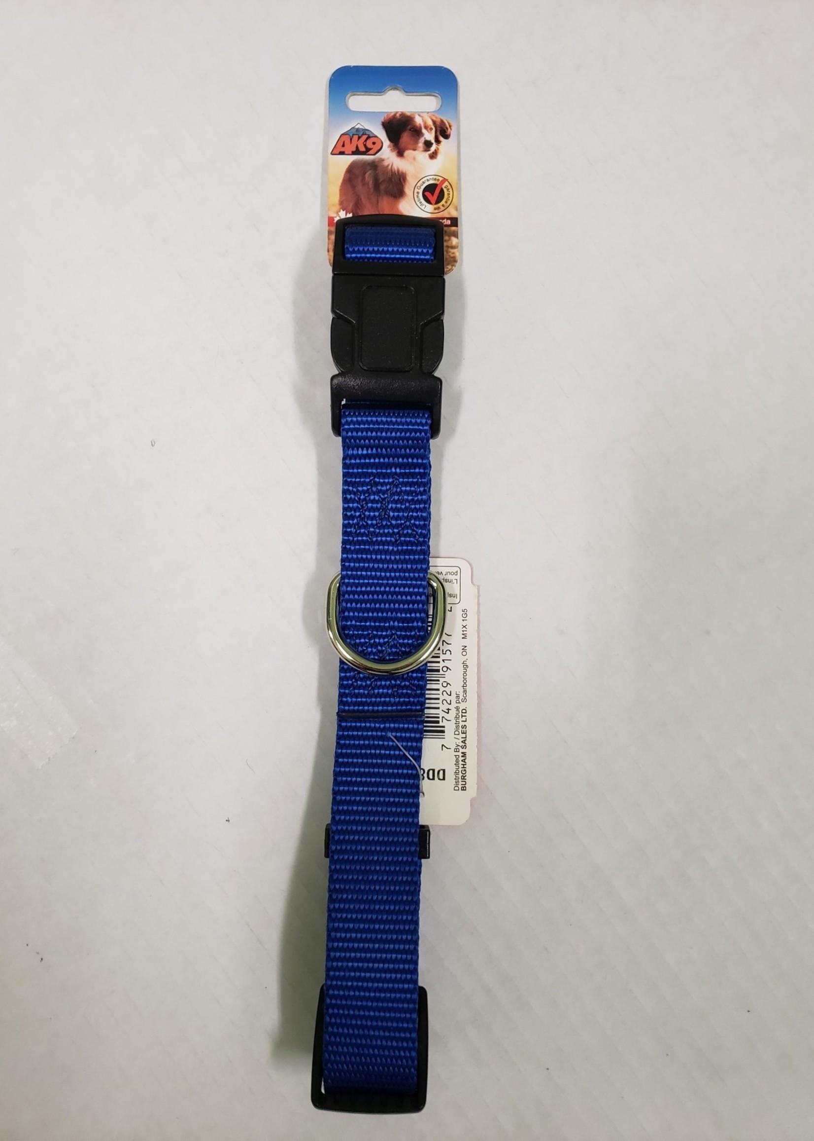 "AK-9 AK-9 Adjustable Collar 17-26"" Blue"