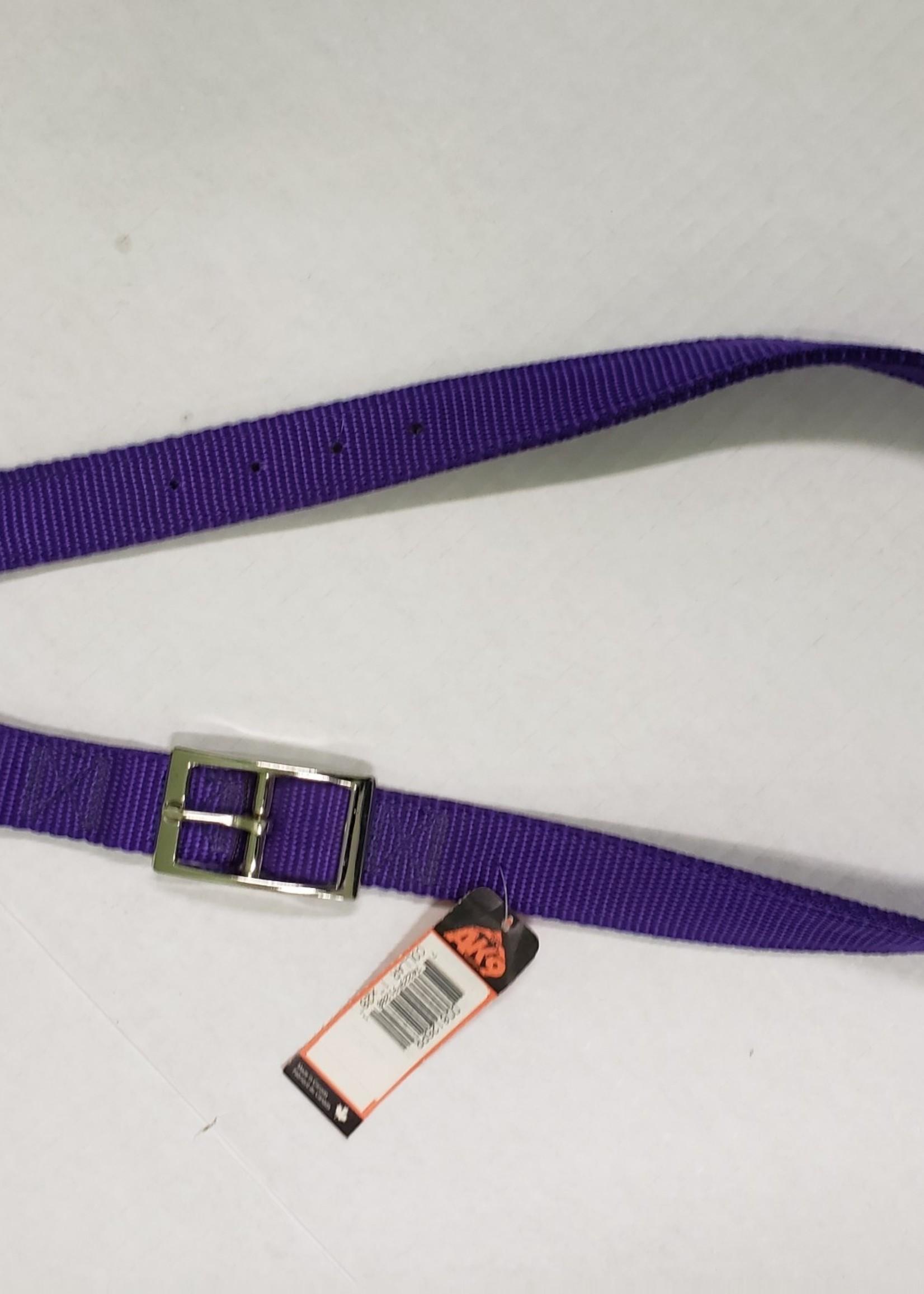 """AK-9 AK-9 D-Ring Belt Collar 28"""" Purple"""