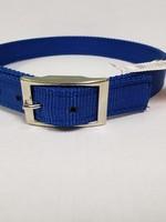 """AK-9 D-Ring Belt Collar 28"""" Blue"""