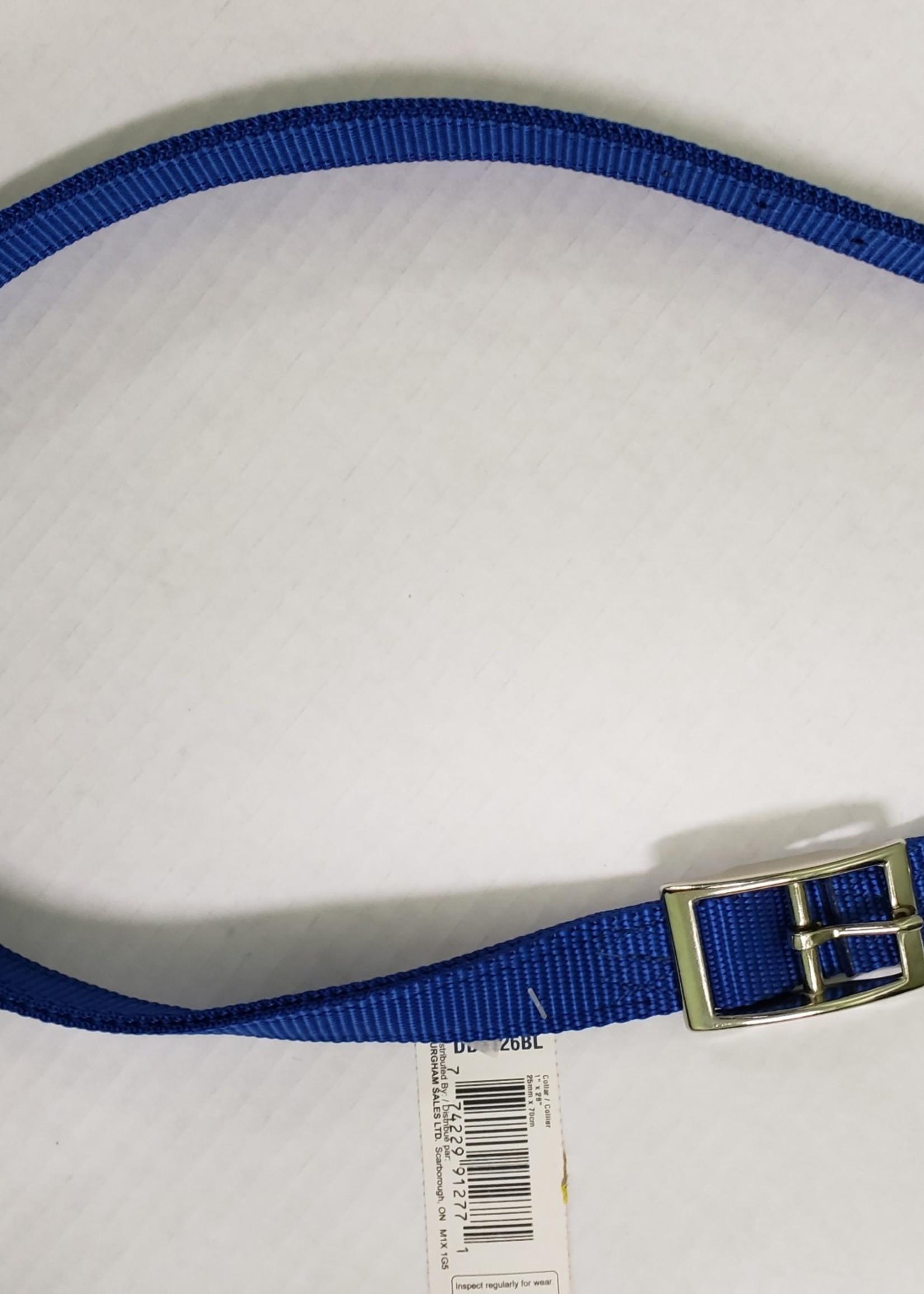 """AK-9 AK-9 D-Ring Belt Collar 30"""" Blue"""