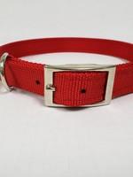 """AK-9 D-Ring Belt Collar 28"""" Red"""