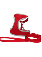 Coastal® Comfort Soft® Adjustable Harness with 6' Leash Red