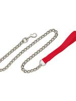 Titan® Heavy Chain Leash with Nylon Handle 4' x 3mm Red