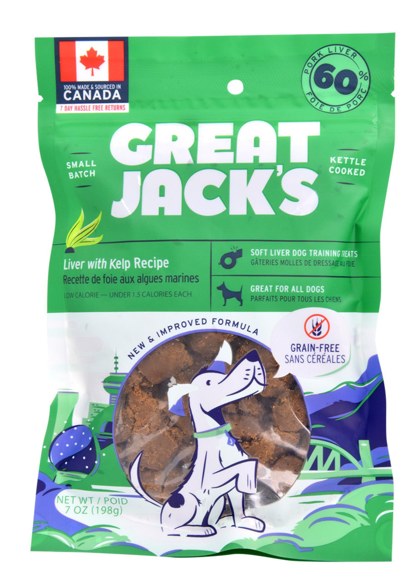 Canadian Jerky Co. Ltd Great Jack's GF Soft Liver with Kelp Recipe 7oz