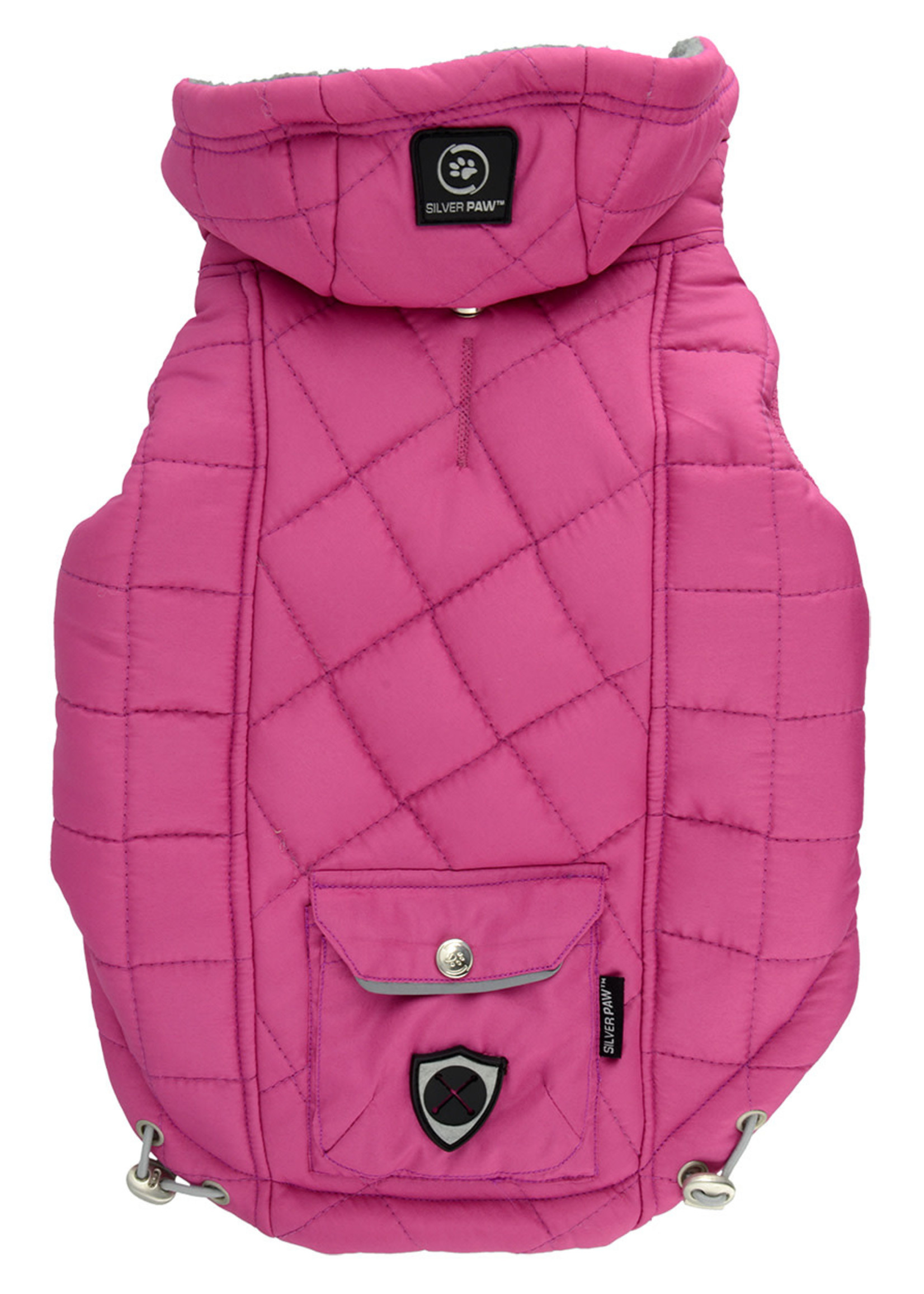 Protect Me - Alert Series Silver Paw™ Quilted Jacket with Pocket X-Small