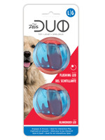 "Zeus™ Duo Ball Toy with Flashing LED Large (2.5"")"