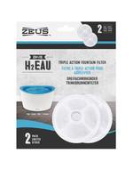 Zeus™ H2EAU Triple Action Fountain Filters 2pk