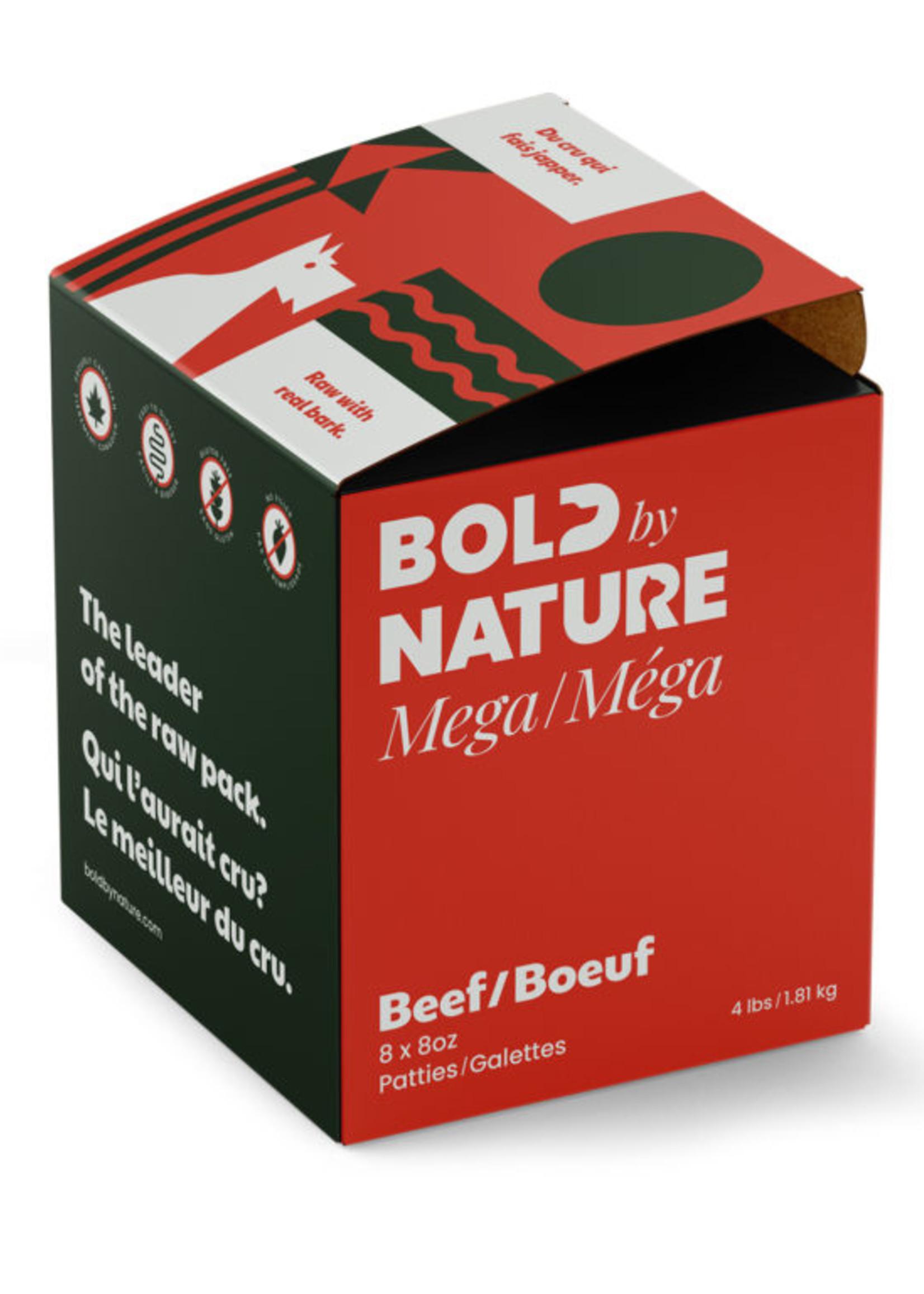 Mega Dog Raw Bold by Nature Mega Beef 4lbs