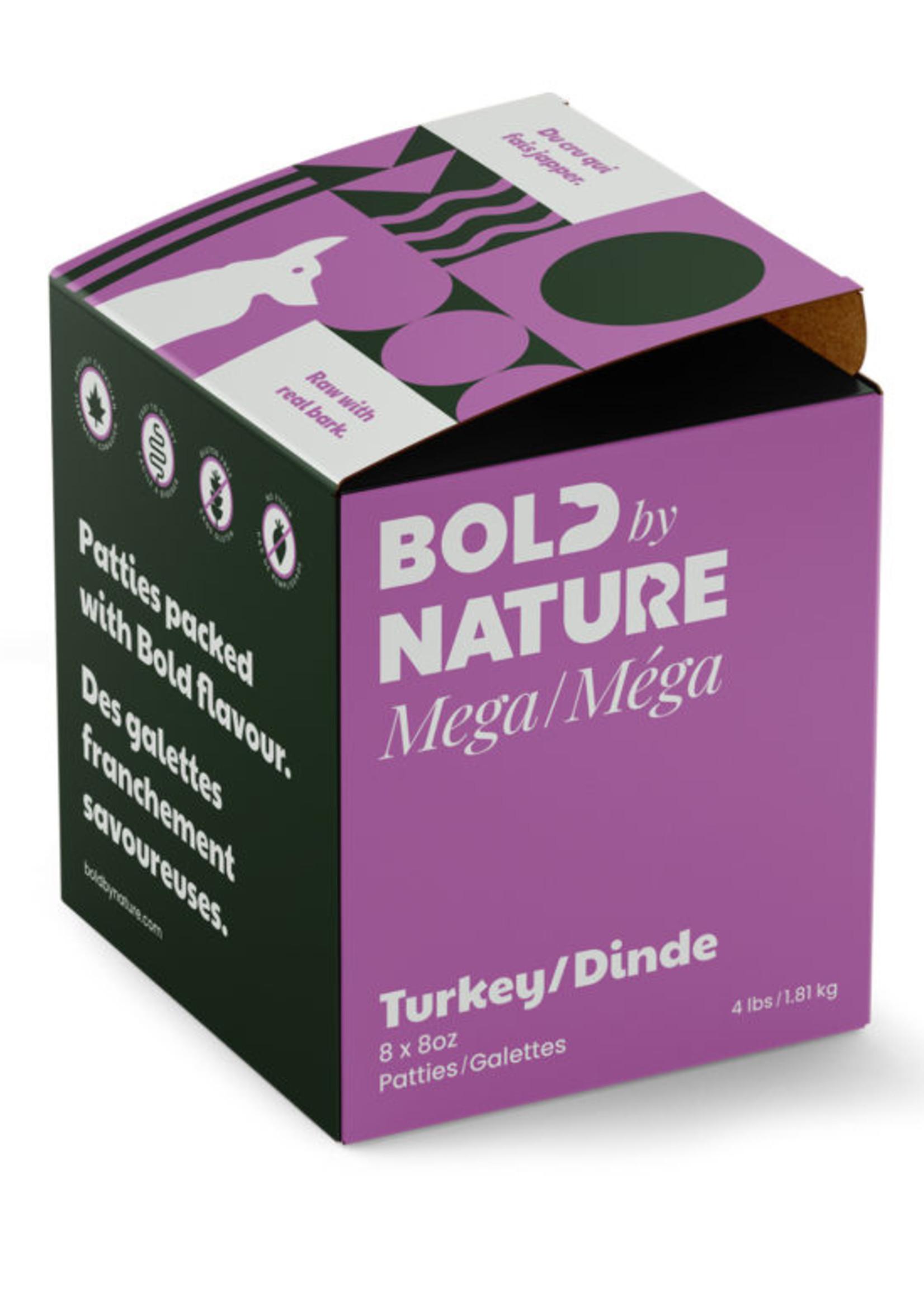 Mega Dog Raw Bold by Nature Mega Turkey 4lbs