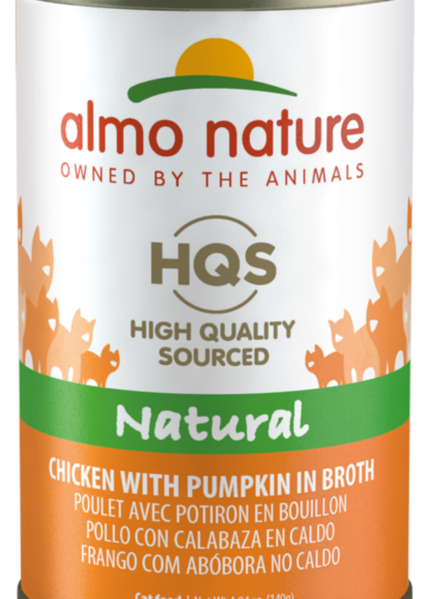 Almo Nature© Almo Nature HQS Natural Chicken with Pumpkin in Broth 140g