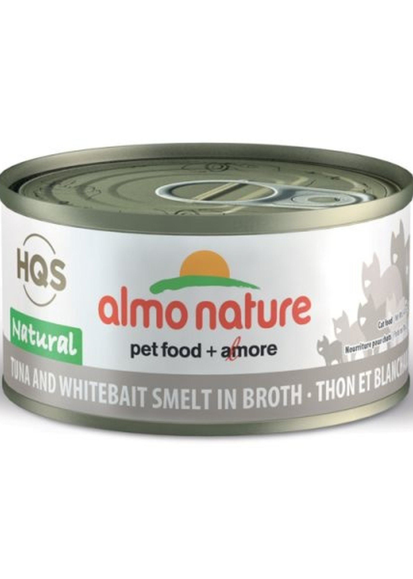 Almo Nature© Almo Nature HQS Natural Tuna and Whitebait Smelt in Broth 70g