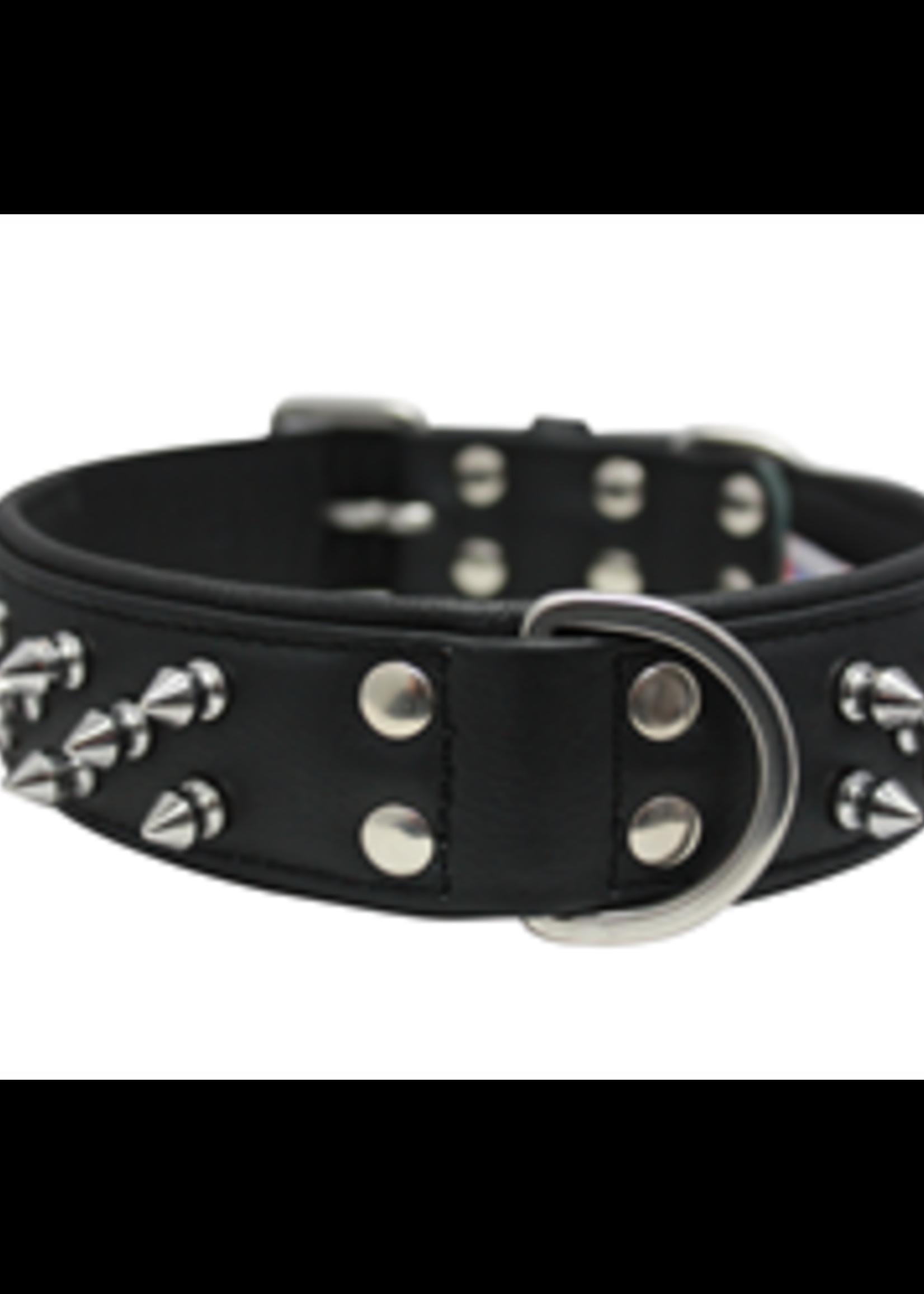 "Angel™Pet Supplies Angel Amsterdam Multi-Line Spiked Collar 24"" x 1.5"""