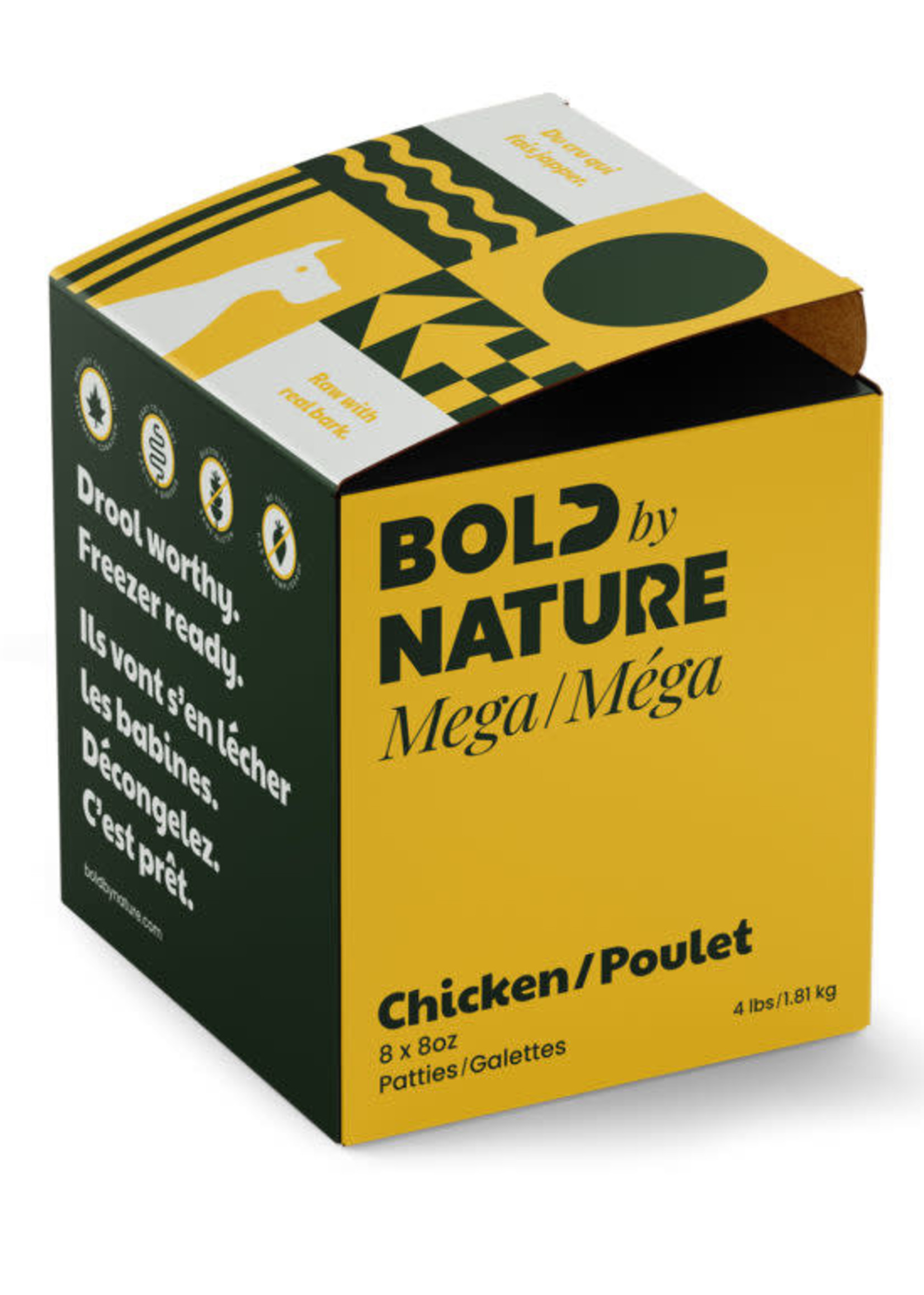Mega Dog Raw Bold by Nature Mega Chicken 4lbs