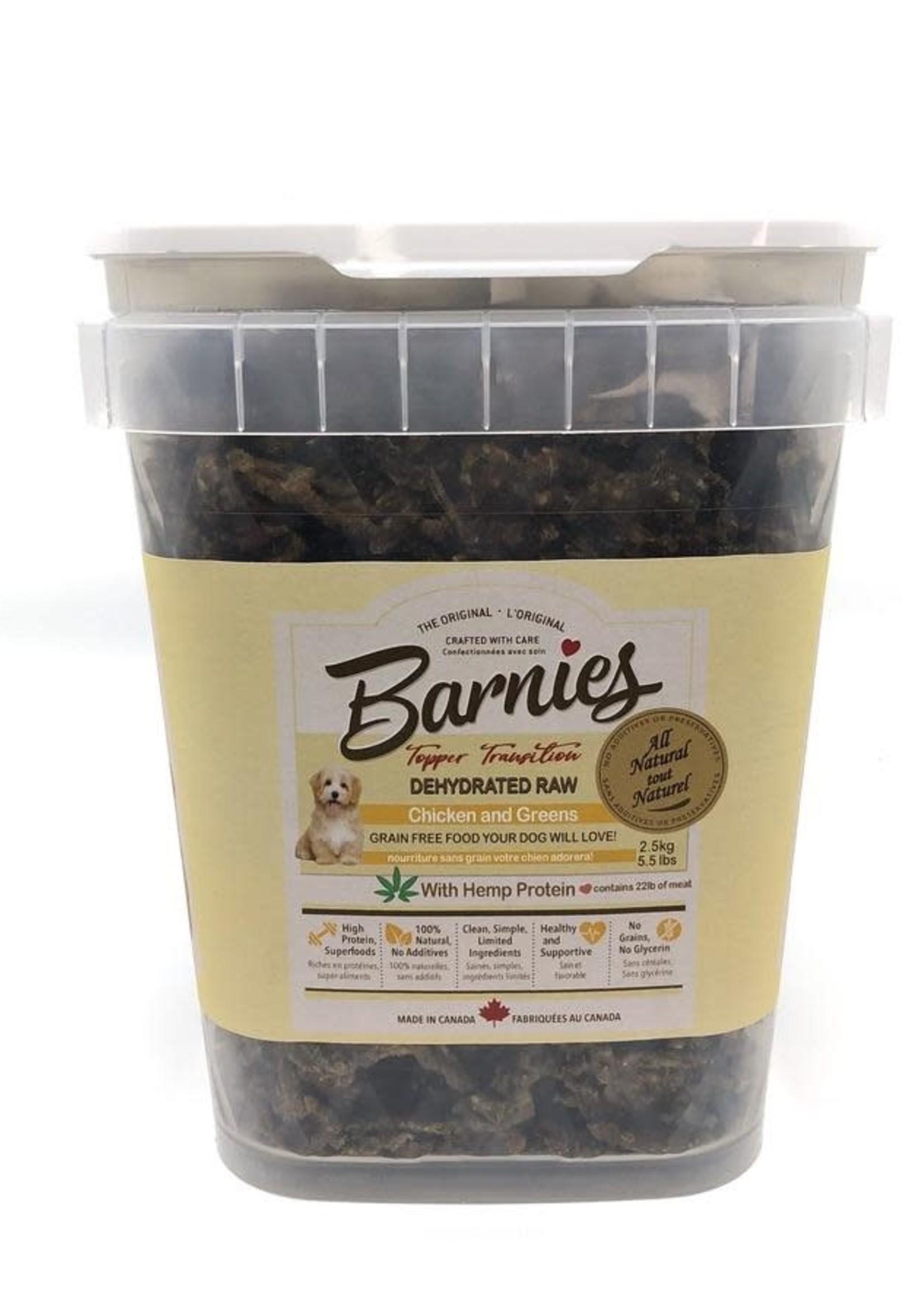 Barnies  Barnies Dehydrated Raw Chicken & Greens 2.5kG