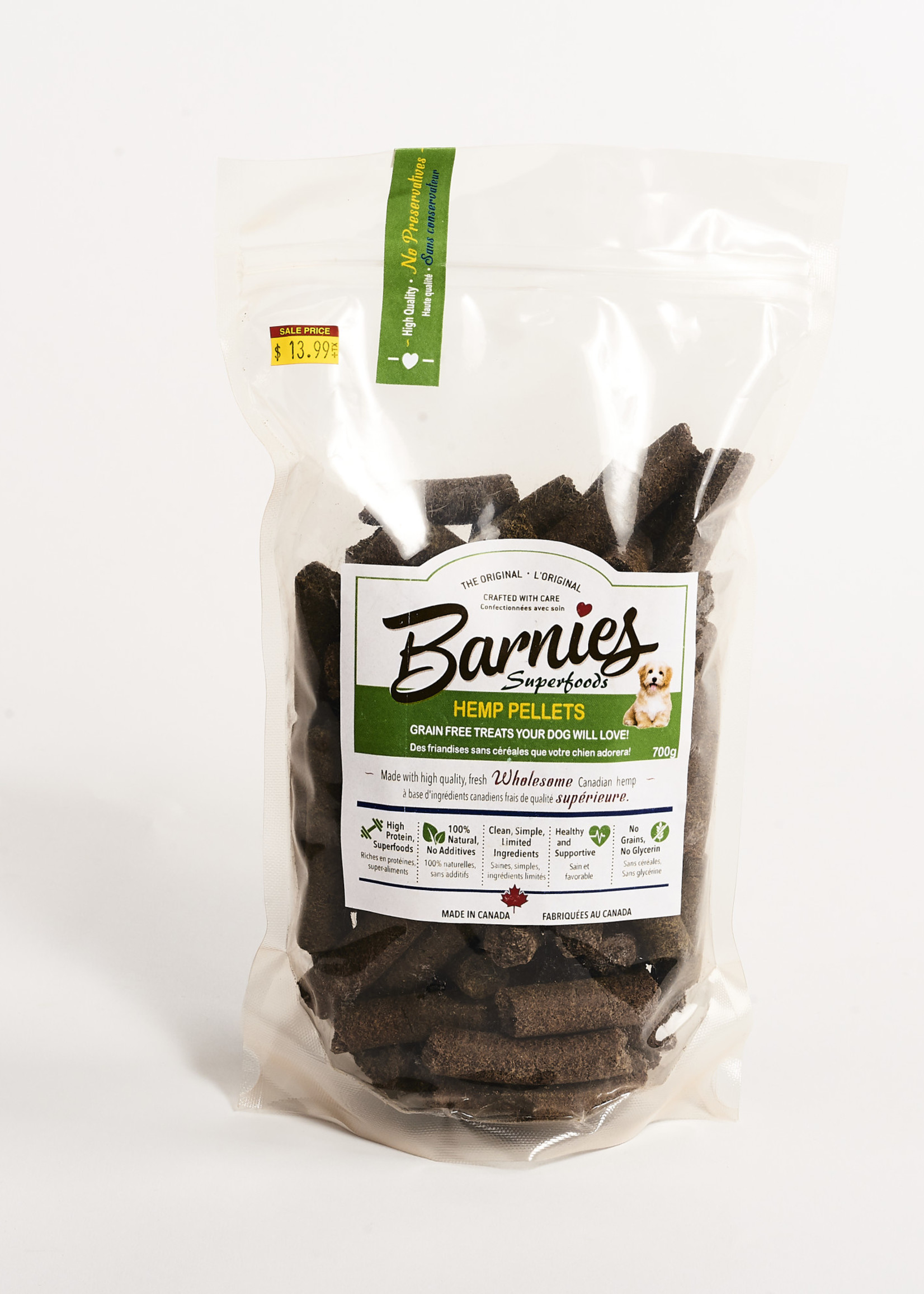 Barnies Barnies CBD Infused Hemp Pellets 700g