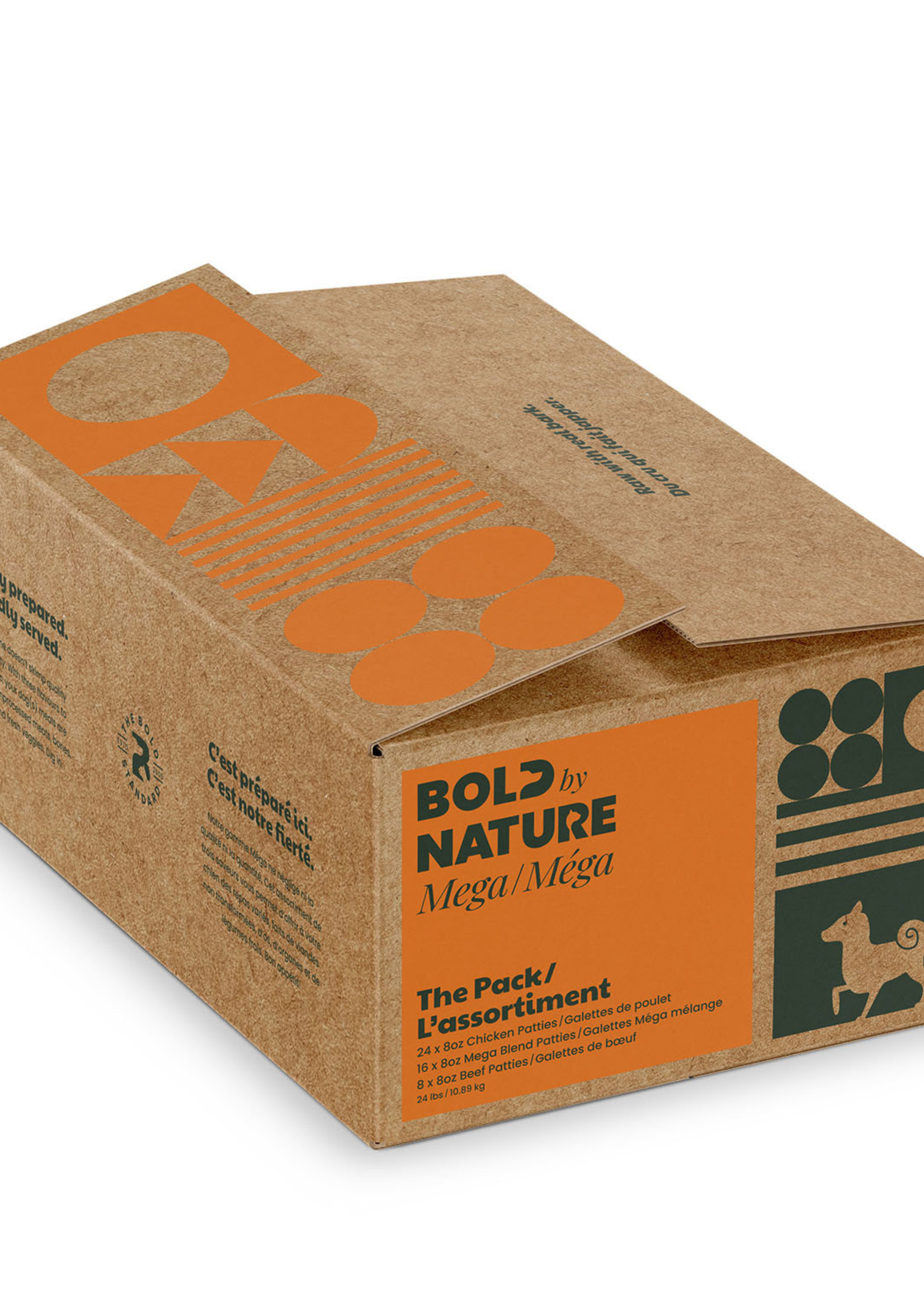 Mega Dog Raw Bold by Nature The Pack: Chicken Variety 24lbs