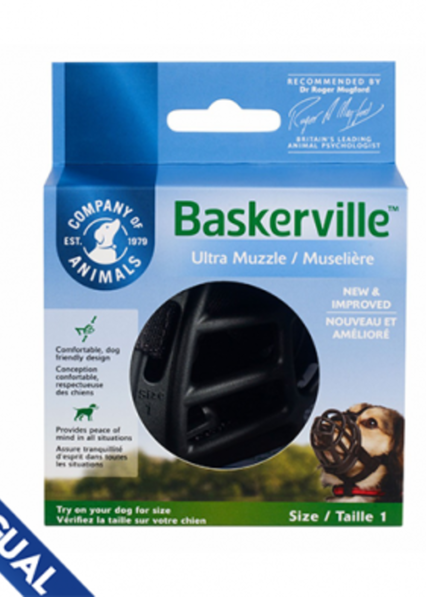 Company of Animals® Company of Animals Baskerville™ Ultra Muzzle Size 1
