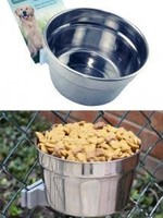Lixit® Stainless Steel Cage Crock Bowl 20oz