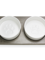 BeOneBreed™ Bowl Duo on Concrete Base Large