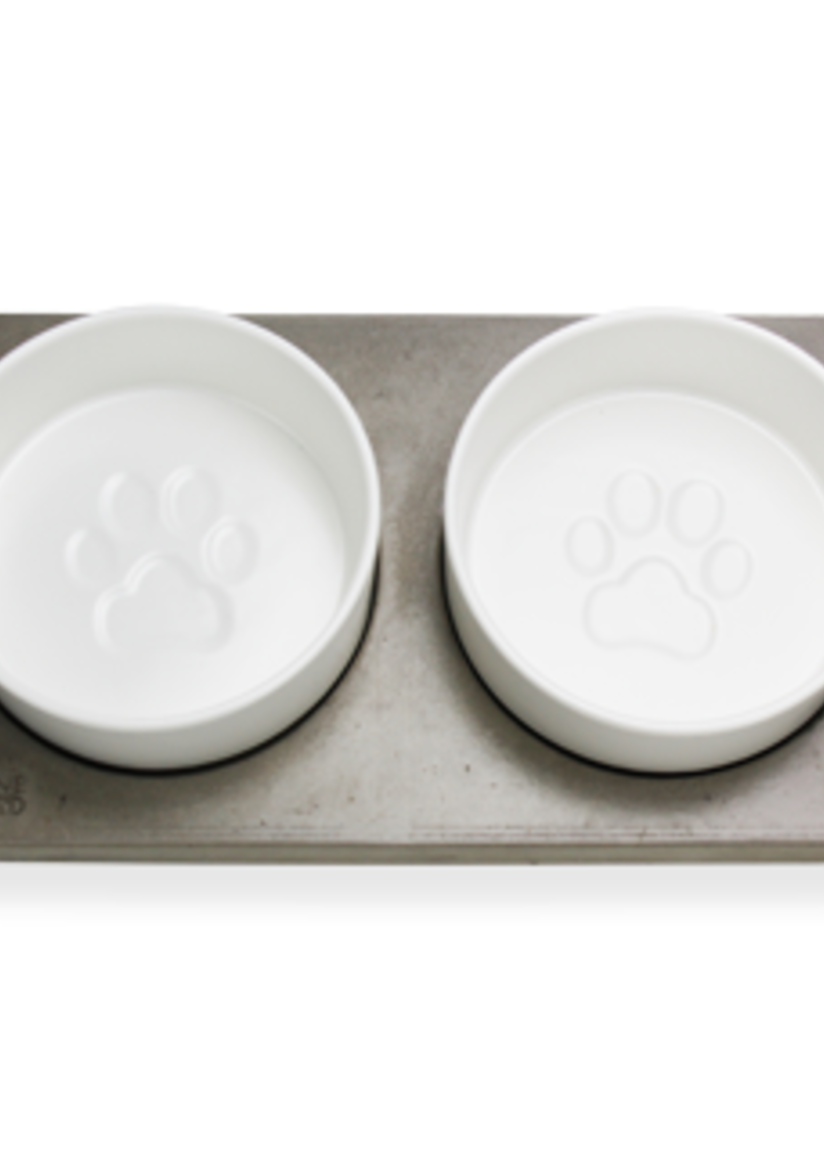 BeOneBreed™ BeOneBreed Bowl Duo on Concrete Base Large