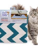 Fresh Kitty™ Jumbo Foam Litter Mat - Chevron