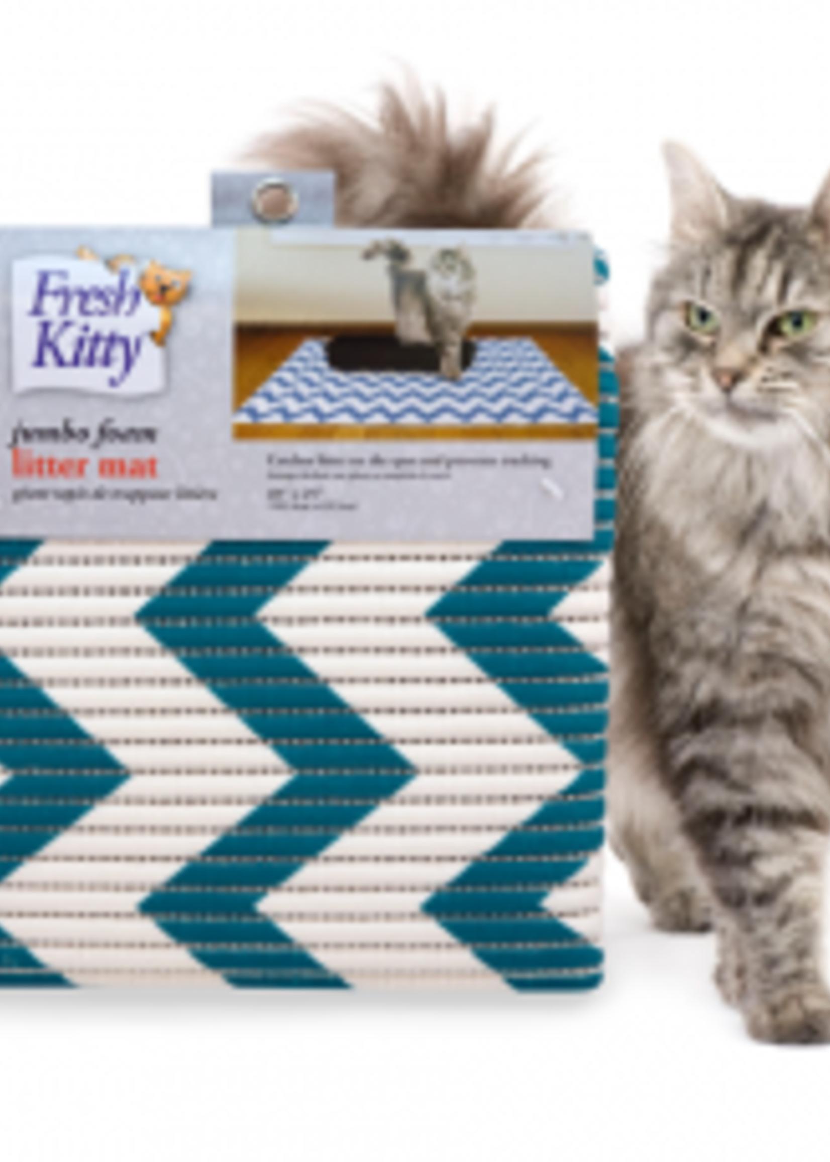 Fresh Kitty™ Fresh Kitty™ Jumbo Foam Litter Mat - Chevron
