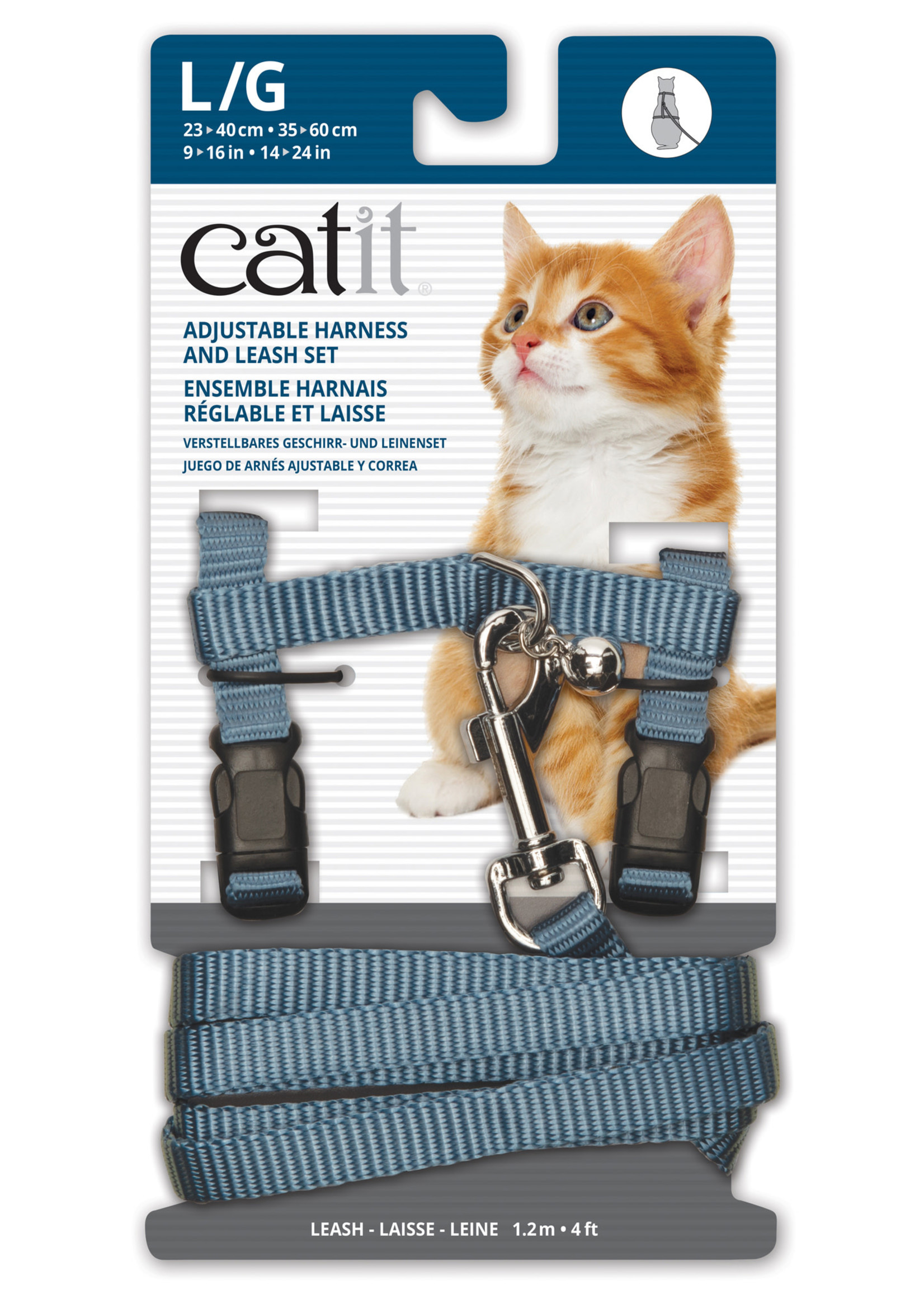 Catit® Catit® Adjustable Nylon Harness & Leash Set Large