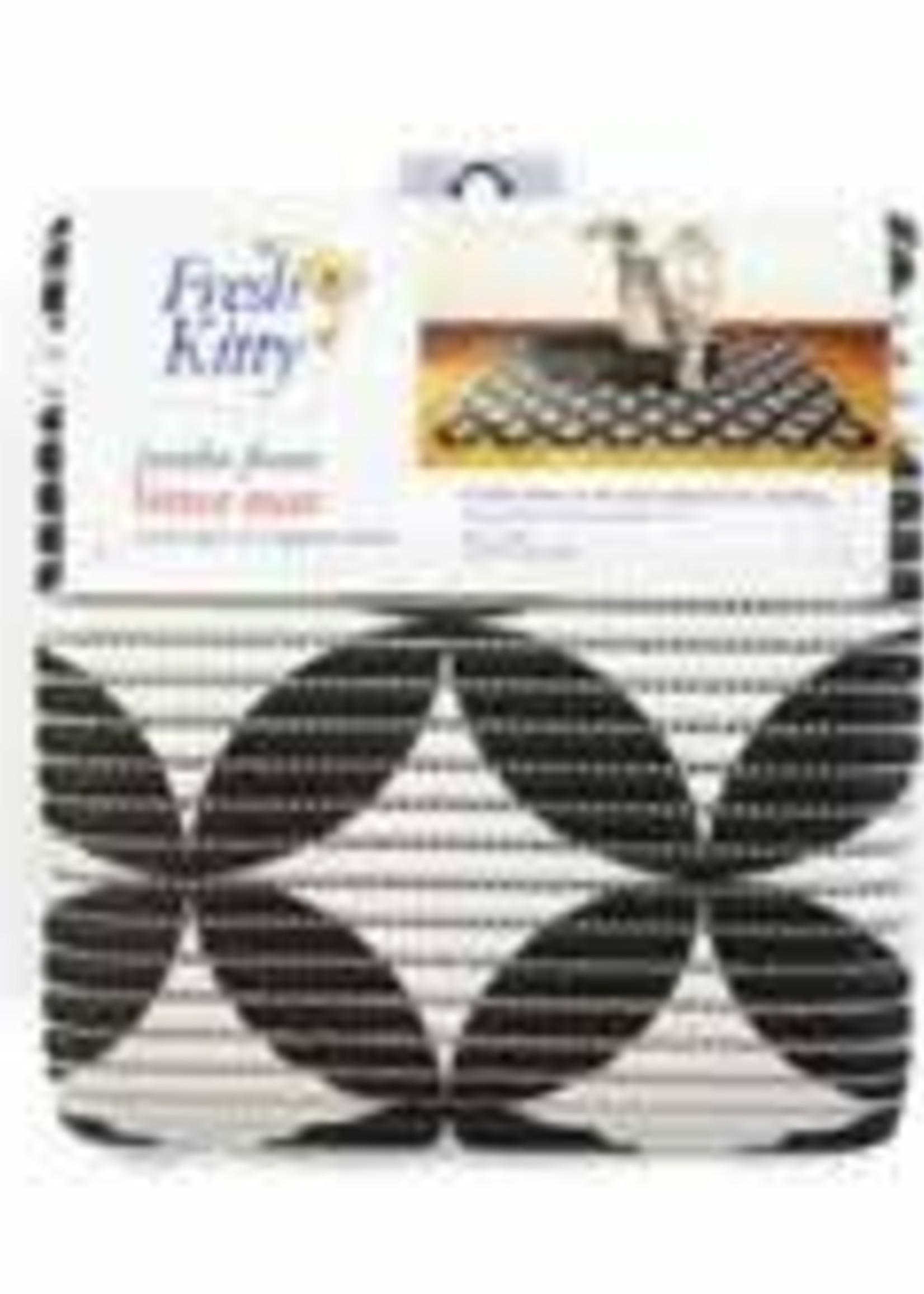 Fresh Kitty™ Jumbo Foam Litter Mat Gray Pattern Cat  40x25in
