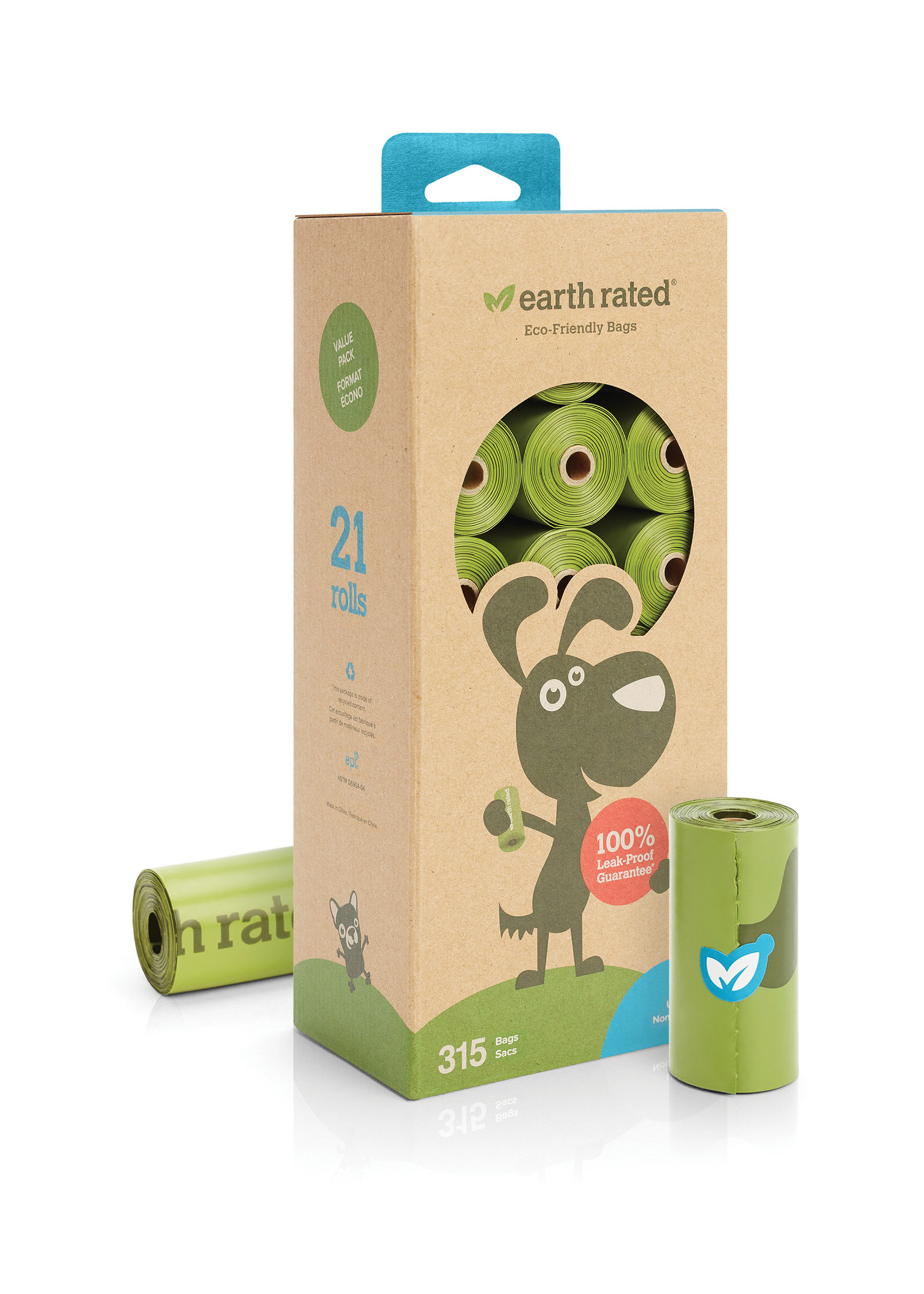 Earth Rated® Earth Rated® 315 Bags on 21 Refill Rolls Unscented