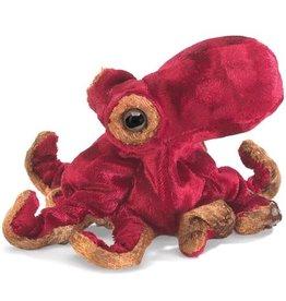 FOLKMANIS Mini Red Octopus Puppet