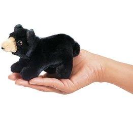 FOLKMANIS Mini Black Bear Puppet