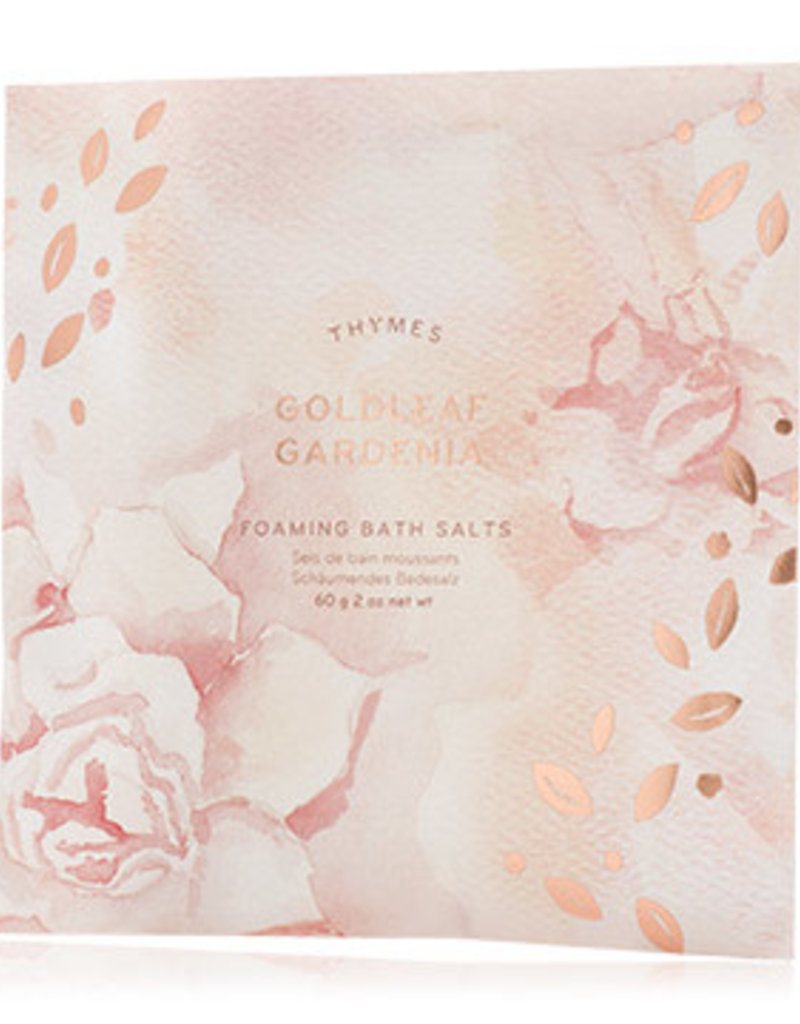 THYMES BATH SALT ENVELOPE FOAMING GOLDLEAF GARDENIA