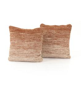 "Cotton Ombre Sunset Pillows 20"" x 20"""
