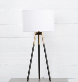 PETER TABLE LAMP CHARCOAL IRON